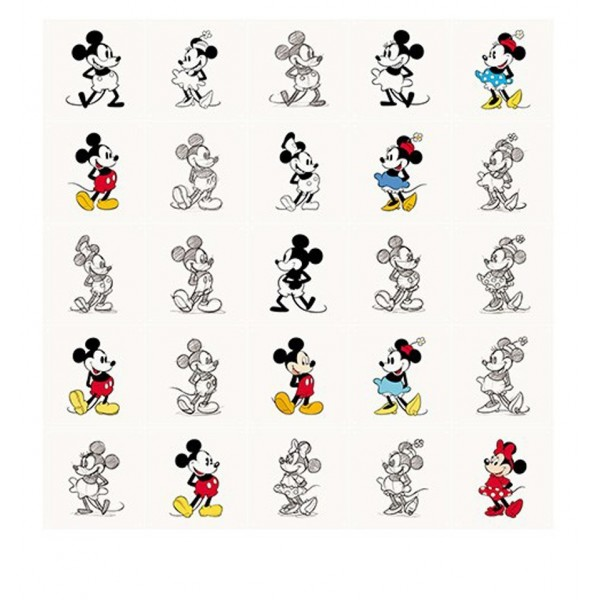 IXXI MICKEY MOUSE E MINNIE SKETCH POSTER
