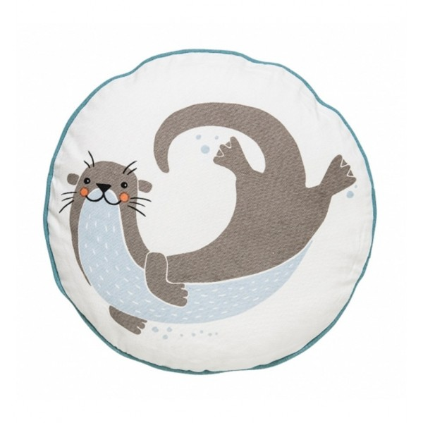 BLOOMINGVILLE SEA OTTER PILLOW IN BLUE