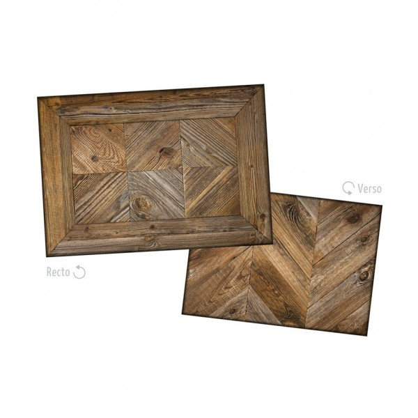 KOZIEL ANTIQUE WOODEN CHECKERBOARD PLACEMATS