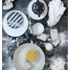 HK LIVING CERAMIC TEA POT BLACK/WHITE DOTTED