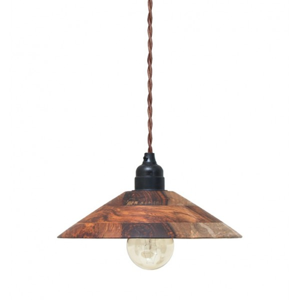 HK LIVING WOODEN PENDANT LAMP