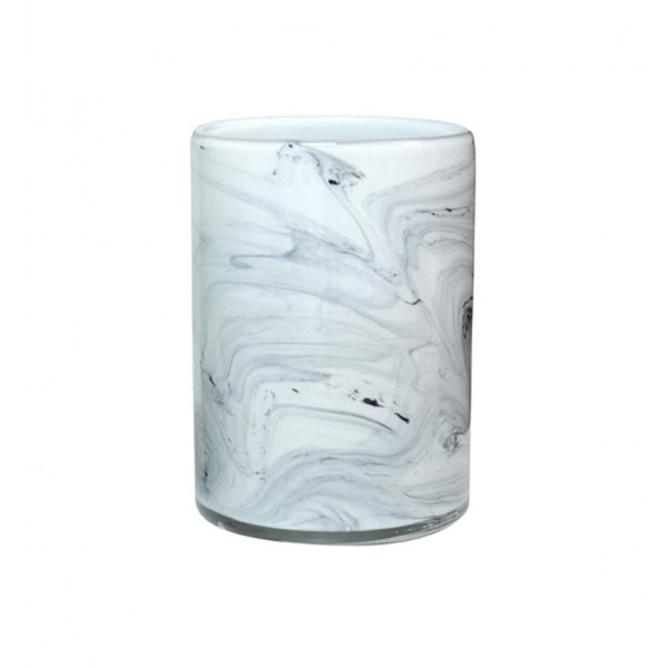 HK LIVING GLASS VASE MARBLE EFFECT