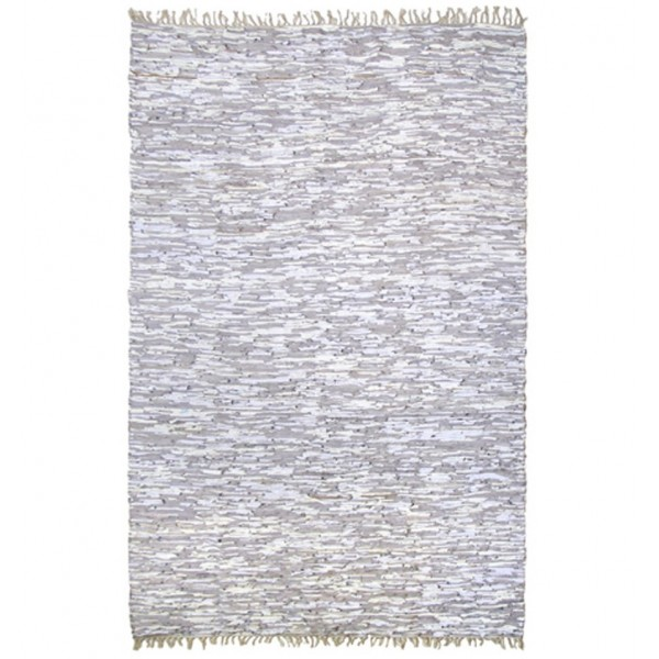 HK LIVING LEATHER RUNNER WHITE
