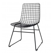 HK LIVING BLACK METAL WIRE CHAIR