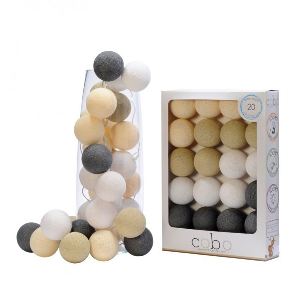 COBO LIGHT GARLAND PEARL