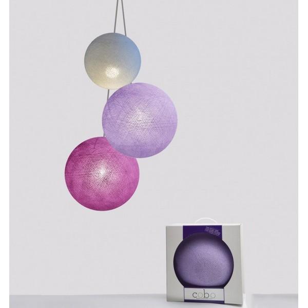 COBO SUSPENSION TRIPLE LAMP AMETISTA