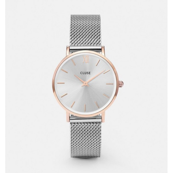 CLUSE MINUIT MESH ROSE GOLD/SILVER