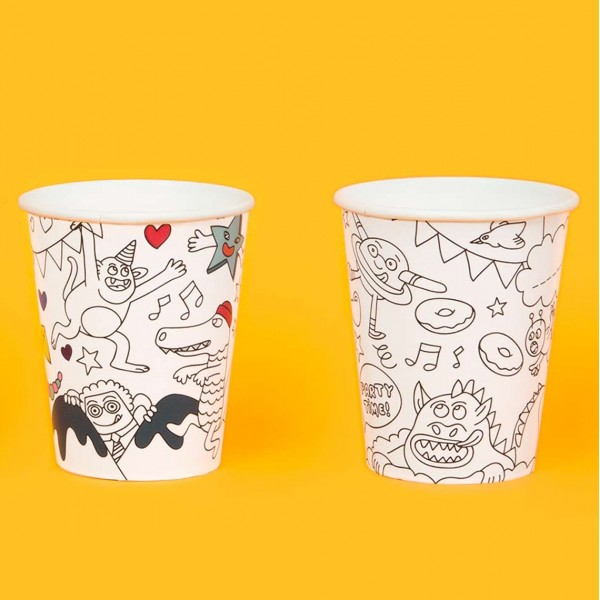 OMY PARTY CUPS COLORABLE