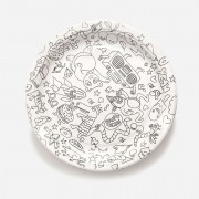 OMY FUN PAPER PARTY PLATES COLORABLE