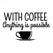 DECORAMO ADESIVO MURALE WITH COFFEE