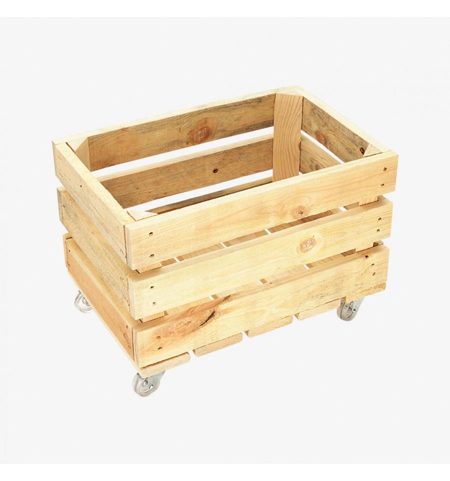 pallet crate furniture. RESCUED CESTA IN LEGNO CON RUOTE Pallet Crate Furniture