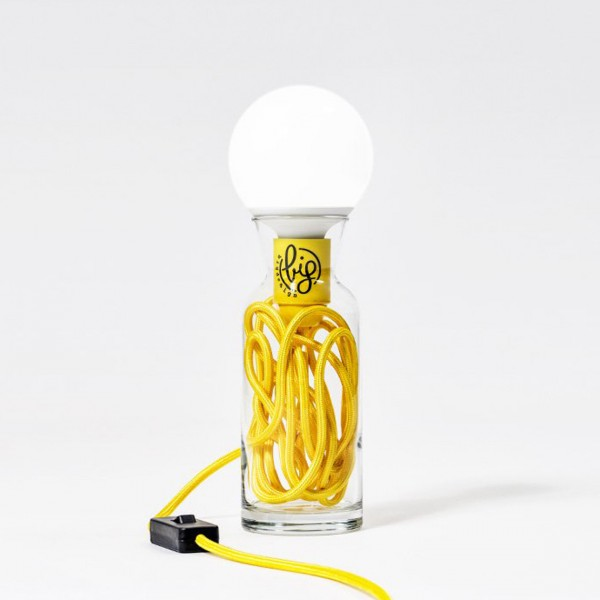 BIG DESIGN PULSE LAMP GIALLO