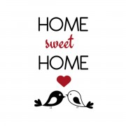 DECORAMO ADESIVO MURALE HOME SWEET HOME