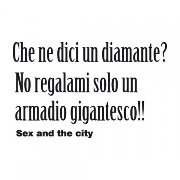 DECORAMO ADESIVO MURALE SEX AND THE CITY