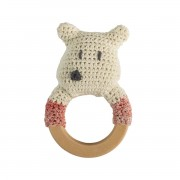 SEBRA CROCHET RATTLE POLARBEAR ON RING
