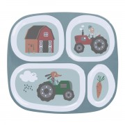 SEBRA MELANINE PLATE W/4 ROOMS FARM BOY
