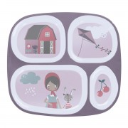 SEBRA MELANINE PLATE W/4 ROOMS FARM BOY