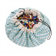 PLAY&GO DIAMOND-BLUE TOY STORAGE BAG