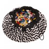 PLAY&GO ZIGZAG BLACK TOY STORAGE BAG