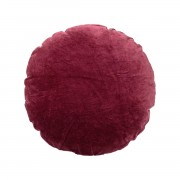 BLOOMINGVILLE VELVET-COTTON RED CUSHION