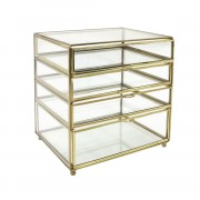 HK LIVING BRASS/GLASS DESK DRAWER