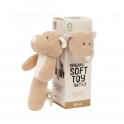 WOOLY ORGANIC RATTLE TEDDY BEAR