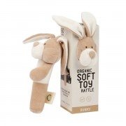 WOOLY ORGANIC RATTLE BUNNY