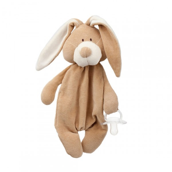 WOOLY ORGANIC COMFORTER WITH DUMMY HOLDER BUNNY