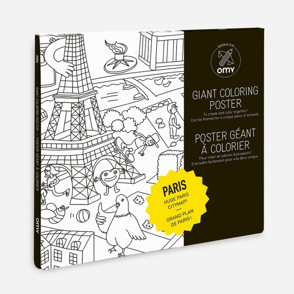 OMY GIANT COLORING HOME POSTER