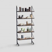 DIALMA BROWN WOODEN BOOKCASE DB002947