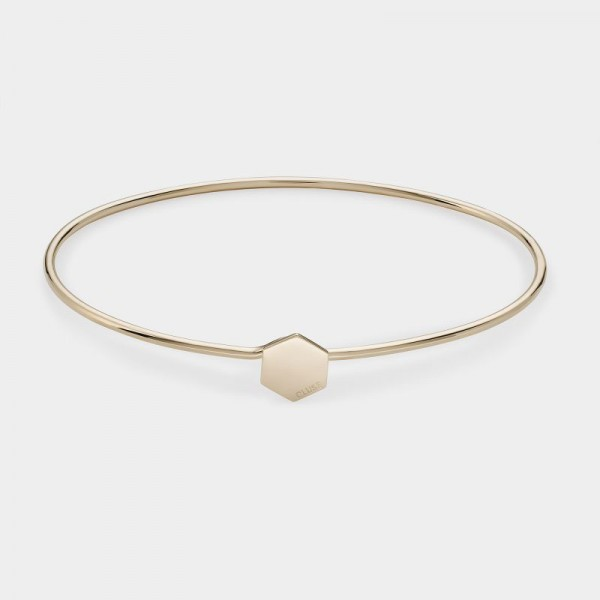 CLUSE ESSENTIELLE GOLD HEXAGON BANGLE BRACELET