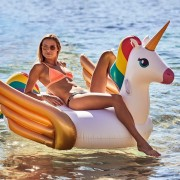 SUNNYLIFE LUXE RIDE-ON FLOAT FLAMINGO