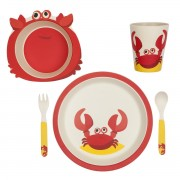 SUNNYLIFE ECO KIDS MEAL SET CRABBY