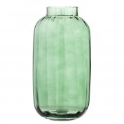 BLOOMINGVILLE GLASS VASE GREEN BOTTLE