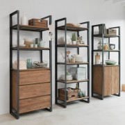 IDI STUDIO BOOKCASE FENDY 3 DRAWERS 2 OPEN SHELVES