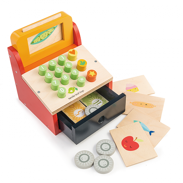 TENDER LEAF TOYS CASSA GIOCATTOLO TILL WITH MONEY