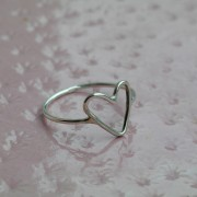 AMEJEWELS ANELLO CUORE IN ARGENTO 925