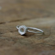 AMEJEWELS INTERLACEMENT RING IN SILVER 925