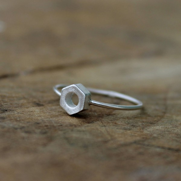 AMEJEWELS ANELLO BULLONE IN ARGENTO 925