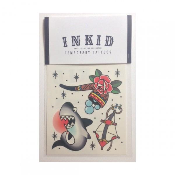 INKID TEMPORARY TATTOOS SHARK
