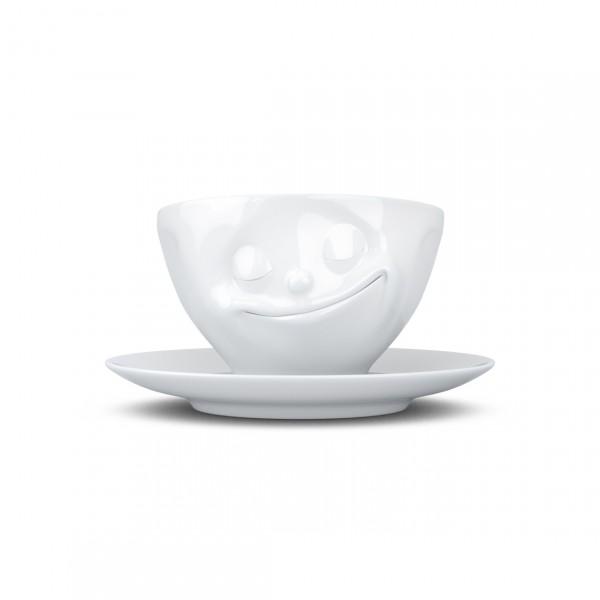 TASSEN COFFEE CUP HAPPY WHITE