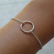 AMEJEWELS INTERLACEMENT BRACELET IN SILVER 925