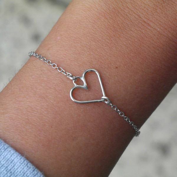 AMEJEWELS BRACCIALE CUORE IN ARGENTO 925
