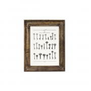 PUEBCO WOODEN NATURAL FRAME WIDE SMALL