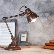 NKUKU LAMPADA DA TAVOLO RUGGINE TUBU