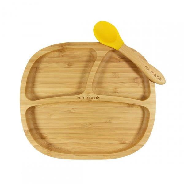 ECO RASCALS BAMBOO DINNERWARE FOR KIDS WITH SPOON