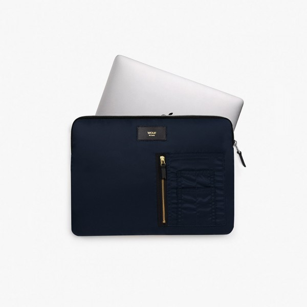 WOUF NAVY BOMBER LAPTOP SLEEVE 13""