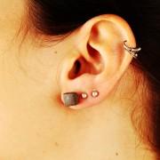 LINDANERA CUBE CONCRETE EARRINGS
