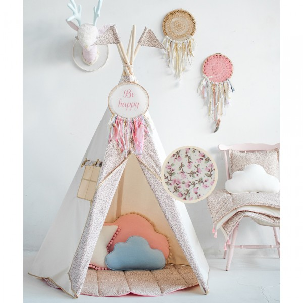 MOIMILI TEEPEE TENT FOR KIDS WITH PRINT