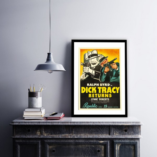 BLUE SHAKER POSTER STILE VINTAGE DICK TRACY